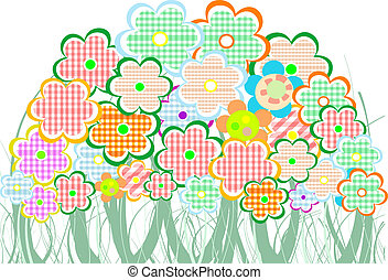 Perfect spring daisies border. vector background