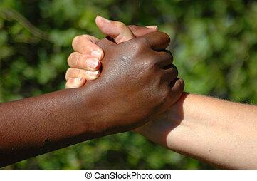 perfect, team, handen