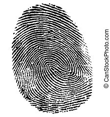 perfect thumb fingerprint - a black thumb fingerprint in...