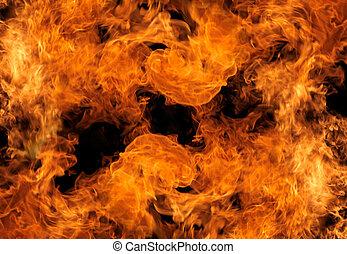 perfect, vuur, zwarte achtergrond