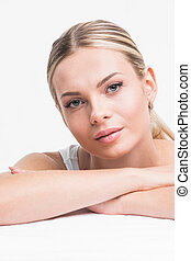 Perfect woman portrait - Portrait of young woman with...
