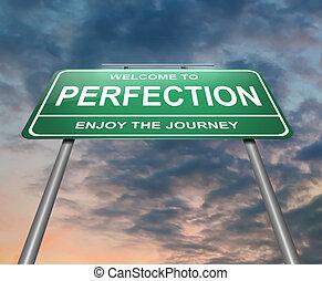 Perfection concept. - Illustration depicting an illuminated...