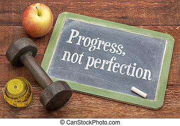 perfection, pas, progrès