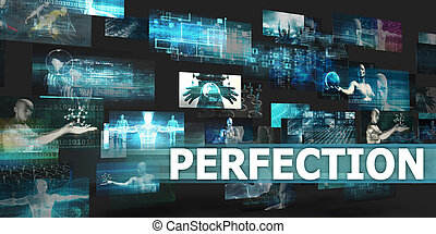 Perfection Presentation Background with Technology Abstract...