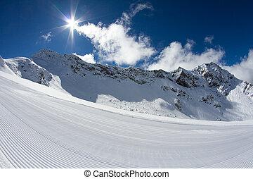 perfectly, gepflegt, ski piste
