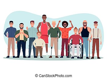 perfectly imperfect people group characters vector illustration design