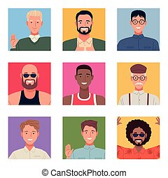 perfectly imperfect with bundle of people group characters vector illustration design