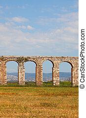 Perfectly kept Roman  aqueduct