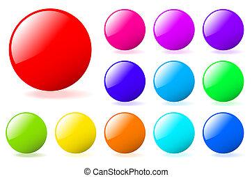 perfecto, añadir, conjunto, gallery., texto, multicolor, ...