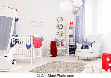 perfecto, bebé, habitación
