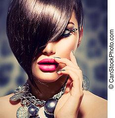 perfecto, belleza, maquillaje, fringe., manicura, sexy,...