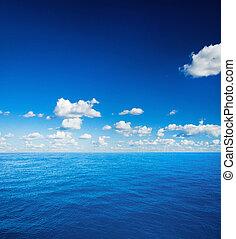 perfecto, cielo, y, océano