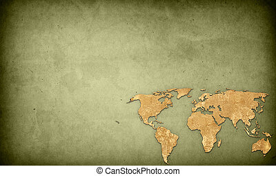 perfecto, mapa, espacio, vendimia, imagen, ilustraciones, -, plano de fondo, texto, mundo, o