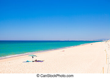perfecto, playa tropical, con, turquesa, agua