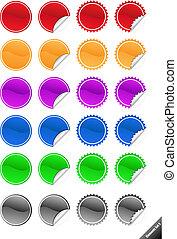 perfecto, tela, elements., añadir, agua, colección, texto, icons., promoción, style., brillante