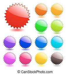perfecto, tela, elements., añadir, gallery., agua, texto, multicolor, vector, icons., más, mi, style., brillante