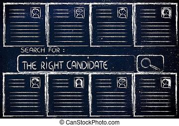 perfeitos, busca, candidato, cv, base dados