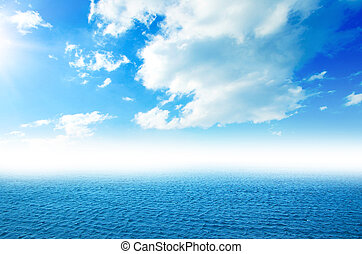 perfeitos, céu, oceânicos