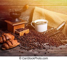 perfeitos, café, fundo