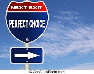 perfeitos, escolha, sinal estrada