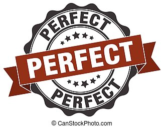perfeitos, sinal., stamp., selo