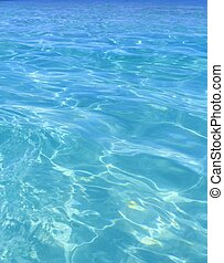 perfekt, blaues, türkis, tropisches wasser, sandstrand
