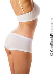 perfekt, krop, isoleret, kvindelig, white.