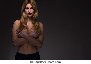 perfekt, kropp, kvinna