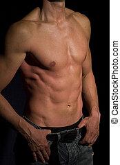 perfekt, kropp, manlig