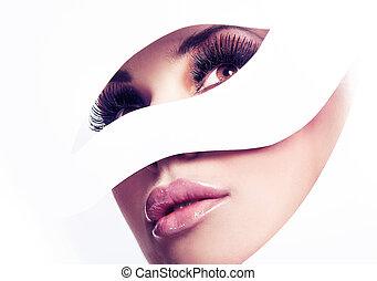 perfekt, porträt, schoenheit, geformt