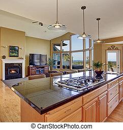 perfekt, traditionell, kök, home., underbar