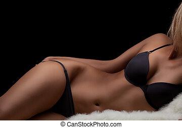 perfekt, womans, kropp
