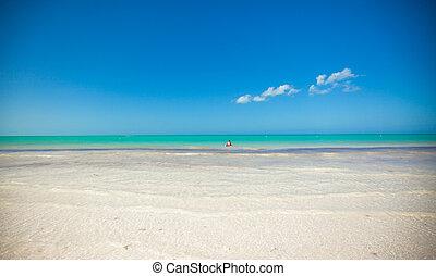 perfetto, abbandonato, spiaggia, isola tropicale