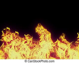 perfetto, fondo, fuoco