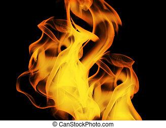 perfetto, fuoco, fondo