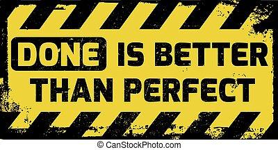 perfetto, meglio, fatto, paragonato a, segno