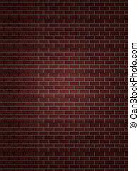 perfetto, parete, mattone