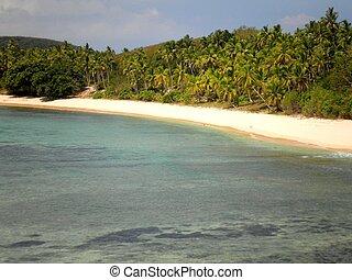 perfetto, spiaggia, in, figi