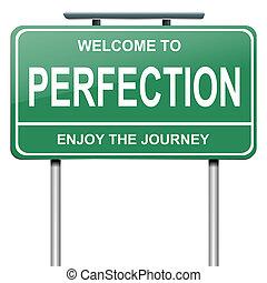perfezione, concept.