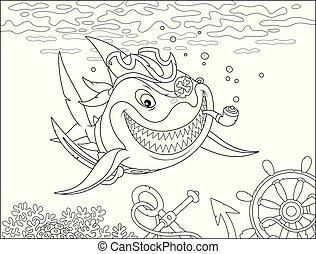 Perfidious great white shark Pirate