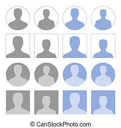 perfil, ícones