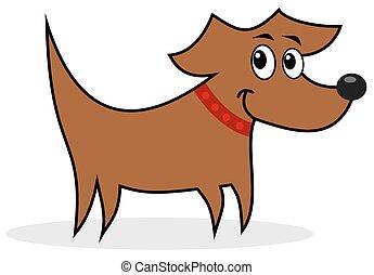 perfil, cão
