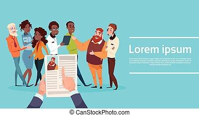 perfil, candidato, retomar, currículo, mão, recrutamento, entrevista trabalho, posição, vitae, ter, cv, homem
