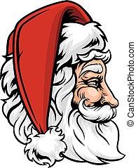 perfil, claus, natal, santa