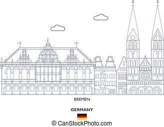 perfil de ciudad, alemania, bremen