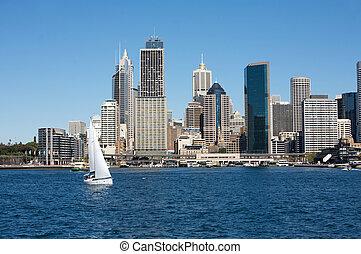 perfil de ciudad, australia, sydney, vista