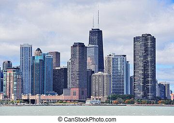 perfil de ciudad, chicago, urbano