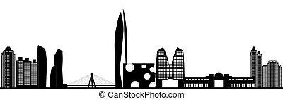 perfil de ciudad, corea, seúl