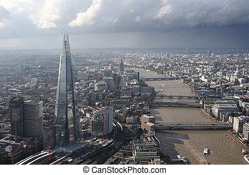 perfil de ciudad, londres, sobre, vista