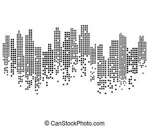 perfil de ciudad, moderno